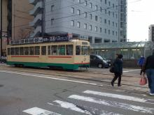富山駅前 路面電車 2013年3月14日